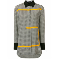 Givenchy Camisa Com Estampa '4G' De Seda - Preto