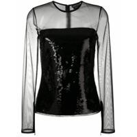 Tom Ford Camisa Com Contraste - Lb999 Black