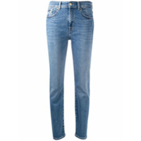 7 For All Mankind Calça Jeans Cenoura Com Cintura Média - Azul