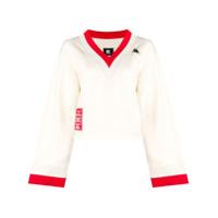 Kappa Kontroll Suéter Com Contraste - Branco