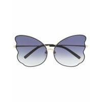 Linda Farrow Gallery Óculos De Sol Com Formato Borboleta - Preto