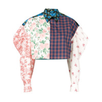 Melampo Camisa Oversized Cropped - Branco