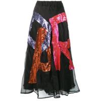 P.a.r.o.s.h. Fantasia Sequin Skirt - Preto