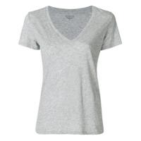 Vince Camiseta Gola V - Cinza