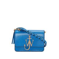 Jw Anderson Bolsa Azul De Couro Com Logo De Ancora