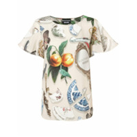 Boutique Moschino Blusa Estampada - Neutro