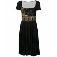 Versace Collection Vestido Com Aplicações - Preto