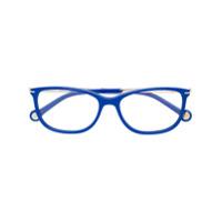 Ch Carolina Herrera Óculos Com Armação Retangular - Azul