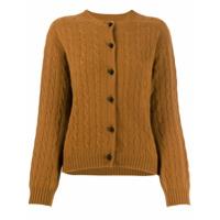 Erdem Cable-Knit Cardigan - Marrom