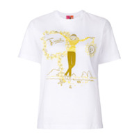 Emilio Pucci Camiseta Bordada - Branco