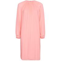 Calvin Klein 205W39Nyc Vestido Com Pregas - Rosa