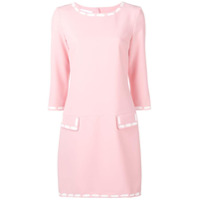 Moschino Vestido Reto Mini - Rosa