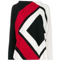 Pierantoniogaspari Suéter Com Padronagem Zig Zag - Preto