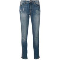 Blugirl Calça Jeans Com Listra Lateral - Azul