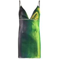 Area Vestido Mini Com Aplicação De Cristais - Verde
