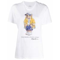 Polo Ralph Lauren Camiseta De Algodão Com Estampa Polo Bear - Branco