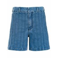Tufi Duek Shorts Jeans Com Recortes - Azul