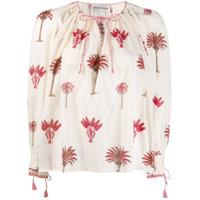 Antik Batik Blusa Com Estampa De Palmeira - Branco