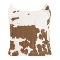 Miaou Cow Print Corset - Marrom