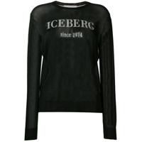 Iceberg Suéter Com Logo E Transparência - Preto