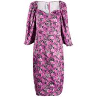 Rotate Vestido Floral Com Mangas Bufantes - Rosa