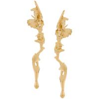 Annelise Michelson Par De Brincos Lava - Dourado