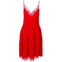 Givenchy Vestido De Tricot Com Renda - Vermelho