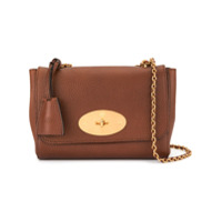 Mulberry Medium Lily Natural Grain Leather Bag - Marrom
