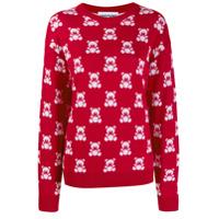Moschino Suéter Com Padronagem - Vermelho