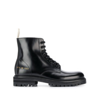 Common Projects Ankle Boot Com Cadarço - Preto