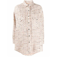 Iro Oversized Tweed Shirt - Rosa