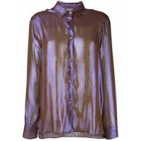 Christopher Kane Camisa Com Abotoamento - Marrom