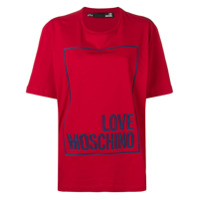 Love Moschino Box Logo T-Shirt - Vermelho
