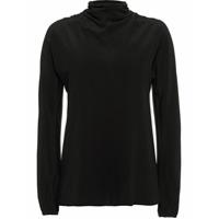 Prada Blusa Com Amarração - Preto