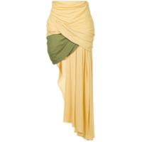 Jacquemus Saia Drapeada - Amarelo