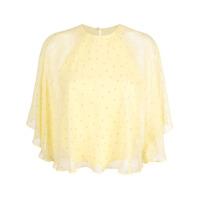 Michelle Mason Blusa Flutter - Amarelo