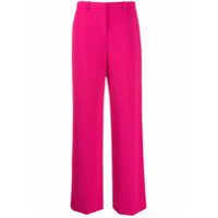 Theory Calça Pantalona Cintura Alta - Rosa