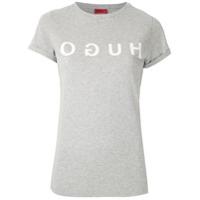 Hugo Hugo Boss T-Shirt Com Logo Estampado - Cinza