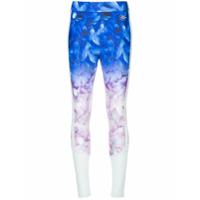 Puma X Sophia Webster Calça Legging Degradê Com Estampa Floral - Azul