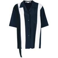 Stella Mccartney Camisa 'ink Reid' Com Contraste - Azul