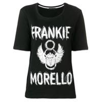 Frankie Morello Camiseta Decote Arredondado Com Logo - Preto
