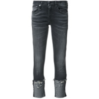 R13 Calça Jeans Cropped - Preto