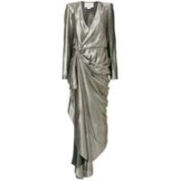 Redemption Vestido Assimétrico Com Franzido - Cinza