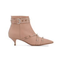 Red Valentino Ankle Boot Red(V) Com Tachas - Rosa