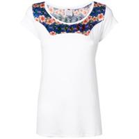 Ultràchic Camiseta Com Recorte De Estampa - Branco