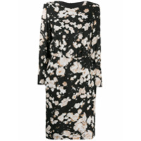 Boutique Moschino Vestido Reto Com Estampa Floral - Preto