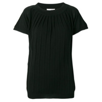 Sottomettimi Pleated Knit Top - Preto