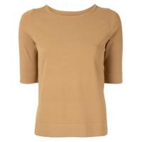 Des Prés Short-Sleeved Knitted Top - Marrom