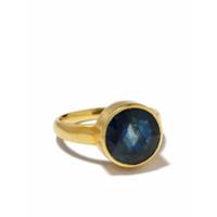 Pippa Small Anel Greek De Ouro 18K - Blue
