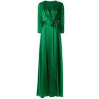 Rhea Costa Vestido De Cetim - Verde